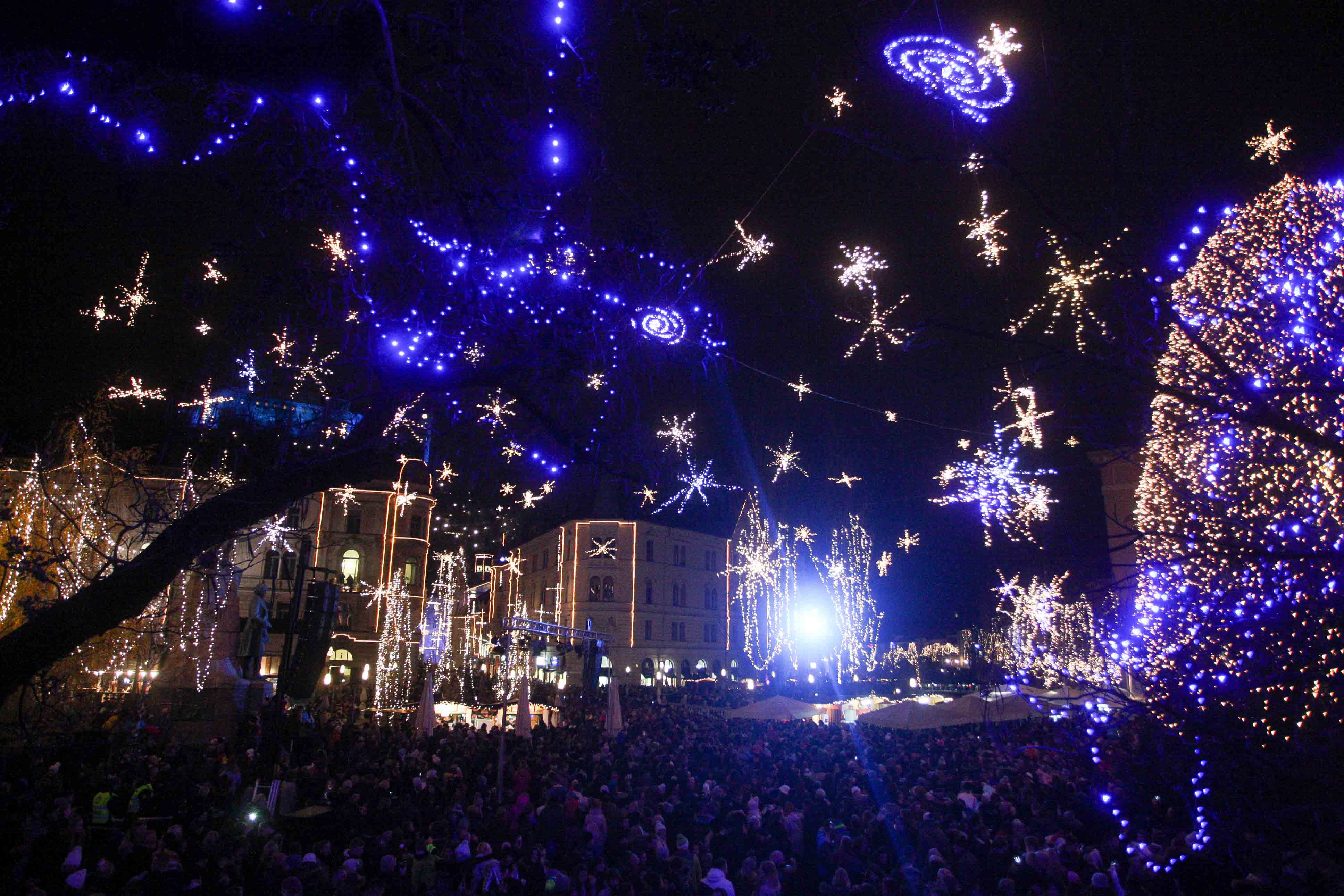 on friday 1 december the festive december events started in ljubljana with the switching on of christmas lights and the opening of the festive fair