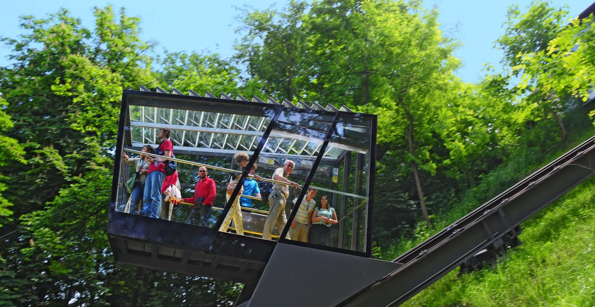Funicular railway to the Ljubljana Castle
