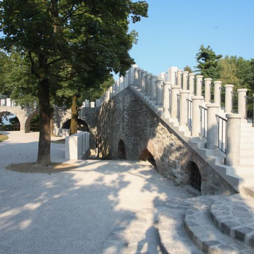 The south-east part of the castle walls at Šance is renovated, photo: Nik Rovan