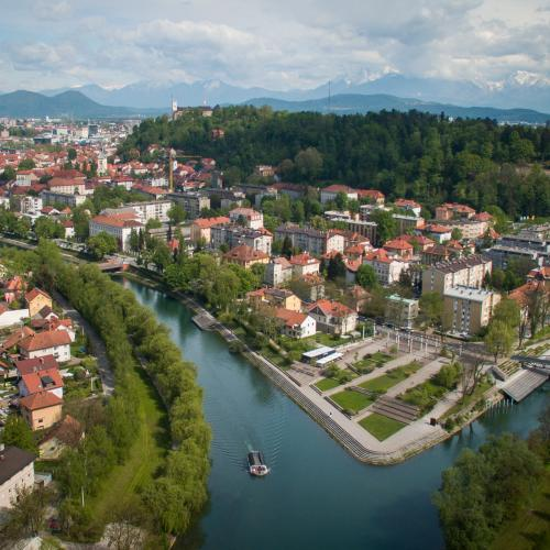 Among the trees, by the water or by the pool. Everything can be done in Ljubljana. Photo: STA