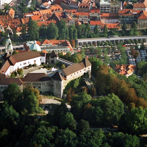 Ljubljana Castle Air view 2 D3.Wedam