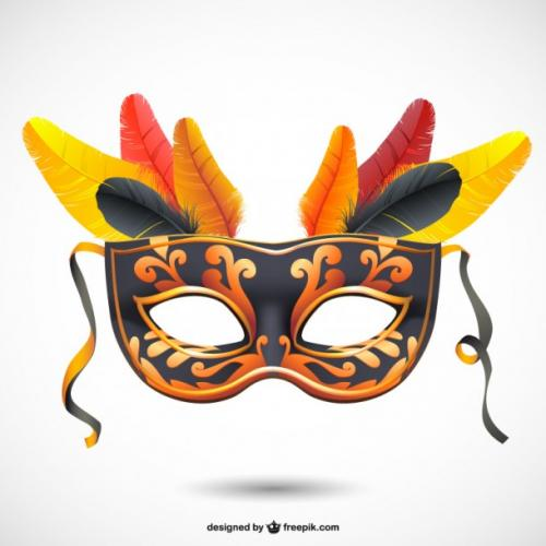 carnival fashion mask free vector