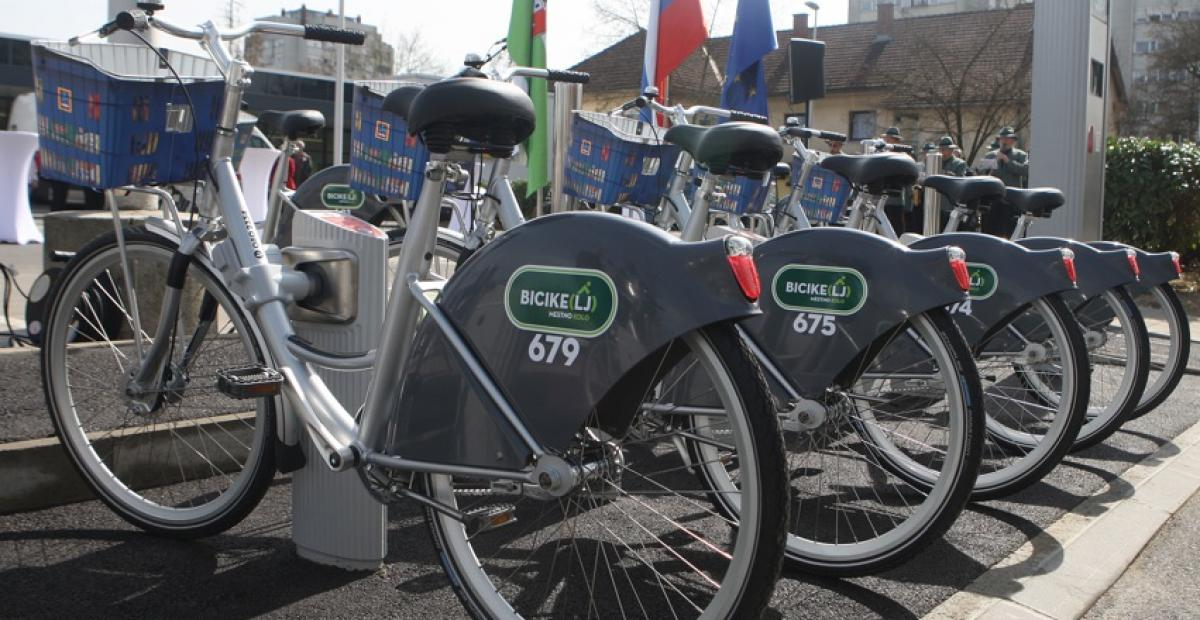 The self-service bicycle rental system BicikeLJ is also very popular in Ljubljana.